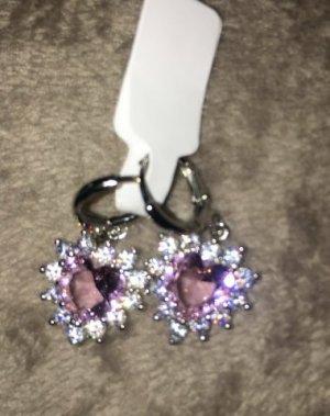 Sterling Silver 925 Ohrringe in rosa