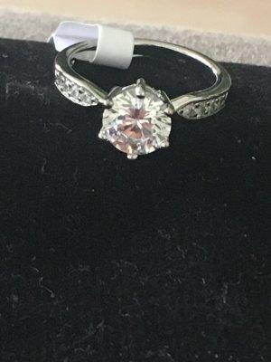Silver Ring white-silver-colored