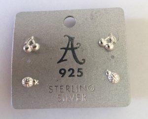 Accessorize Ear stud silver-colored real silver