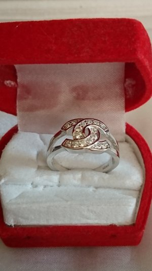 Sterlingsilber 925 Ring mit Zirkonia Steine Gr.18