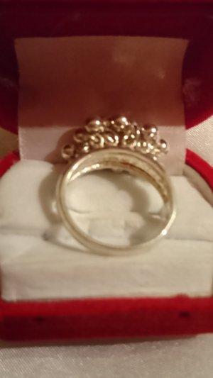 Sterlingsilber Ring 925 mit beweglichen Kugel Gr .19