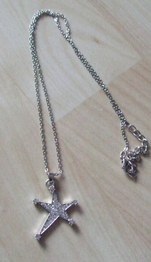 Necklace silver-colored