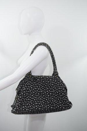Gekruiste tas zwart-wit Katoen
