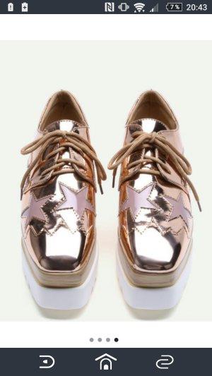 Sternchen Plateau Schuhe