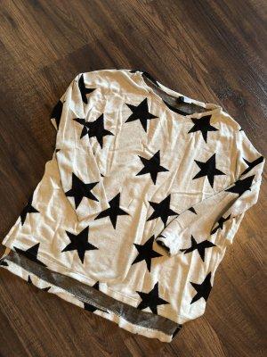 H&M Oversized shirt zwart-grijs