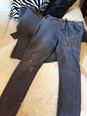 Jeans slim gris ardoise