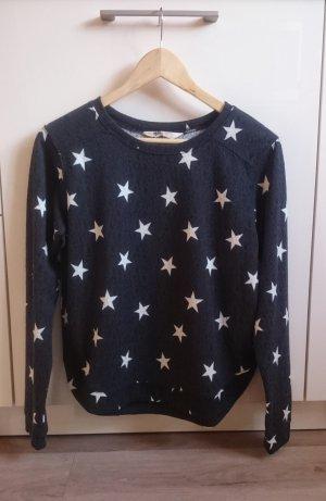Sternen Pulli blau/weiß Gr. XS/S