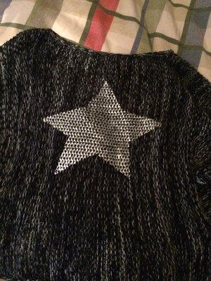 Sternen Pullover grau schwarz