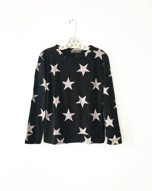sternen shirt / longsleeve / vintage / schwarz / grau / boho / hippie