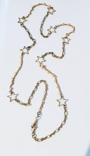 Necklace gold-colored metal