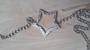 Sterngürtel mit Straßsteinen und Metallkette