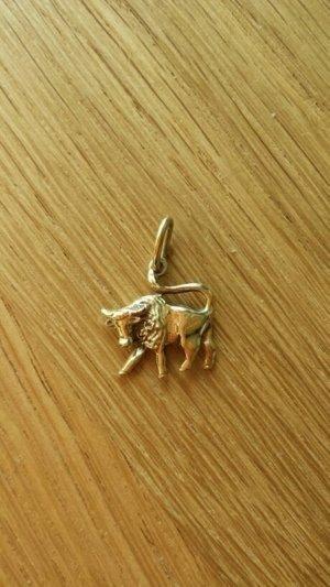 Sternzeichenanhänger Stier 585er Gold