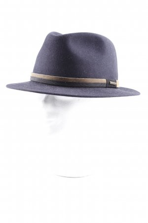 STETSON Sombrero de fieltro azul oscuro-marrón estilo clásico