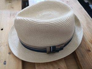 STETSON Panama hoed beige-blauw