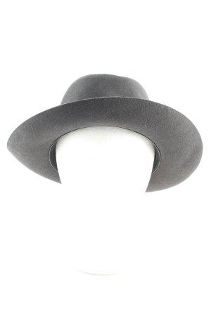 STETSON Chapeau en laine gris anthracite effet velours