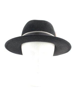 STETSON Chapeau en laine noir-gris anthracite effet velours