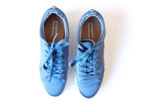 Steve Madden Bertie-S Satin Sneaker Gr. 39 blau wie neu plateau