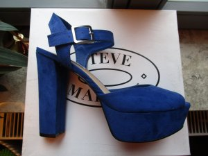 Steve Madden Blue Love 40,5 9,5 Wildleder Plateausandale