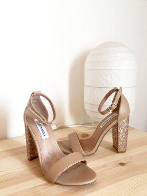 Steve Madden Carrson High Heel Sandalette beige/braun mit Steinchen
