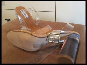 Steve Madden Clearer High Heel Sandaletten Plexi transparent Blogger 38 Acryl Sandalen zara