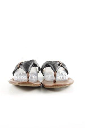 Steve Madden Flip Flop Sandalen schwarz-braun Casual-Look