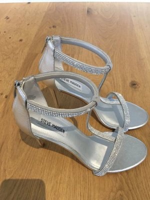 Steve Madden Strapped Sandals silver-colored leather