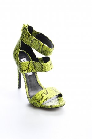Steve Madden High Heel Sandaletten neongrün-schwarz Reptil-Optik