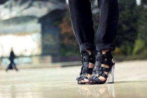 Steve Madden High Heel Sandaletten schwarz extravaganter Stil