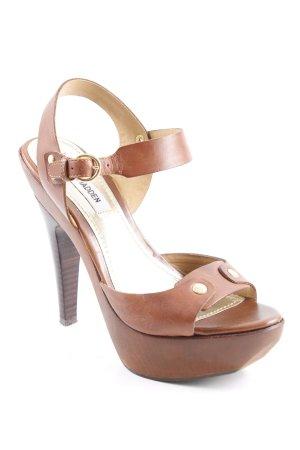 Steve Madden High Heels braun-goldfarben extravaganter Stil