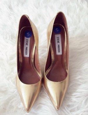 Steve Madden Zapatos de punta color oro-naranja dorado
