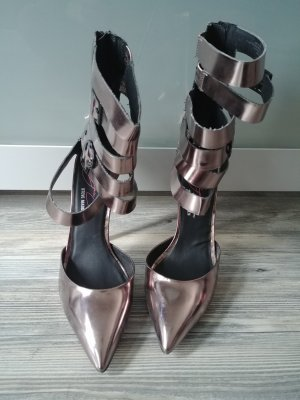 438cd15d64c381 Steve Madden High Heels Metallic Riemchen Stilettos
