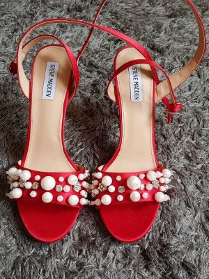 Steve Madden High Heel Sandal bright red-white