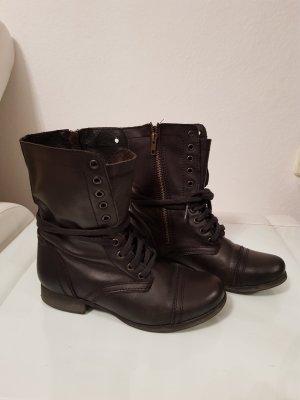 Steve Madden Leder Boots Stiefel schwarz Biker