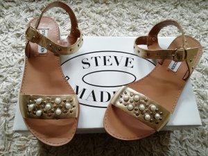 Steve Madden Leder sandalen Gold Perlen