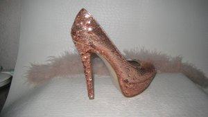 Steve Madden Luxus Glitzer Heels Stilettos 13,4 cm NP 173 € Neu