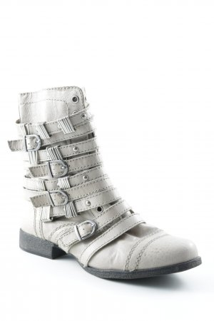 Steve Madden Biker Boots light grey-silver-colored casual look
