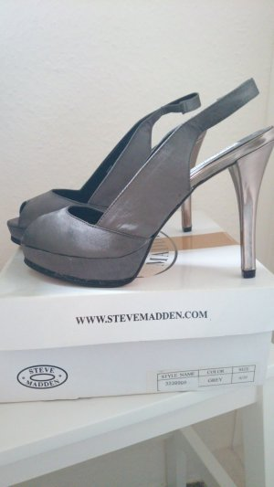 Steve Madden Platform Sandals silver-colored-dark grey