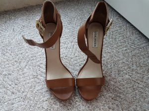 Steve Madden Strapped High-Heeled Sandals brown leather
