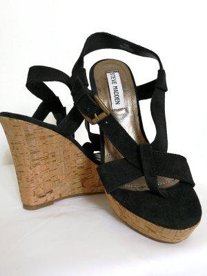 Steve Madden Platform High-Heeled Sandal black-sand brown
