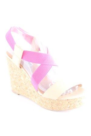 Steve Madden Platform High-Heeled Sandal pink-cream elegant