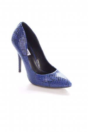 Steve Madden Pumps blau-schwarz Glanz-Optik