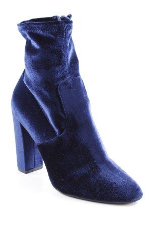 Steve Madden Reißverschluss-Stiefeletten dunkelblau-blau extravaganter Stil