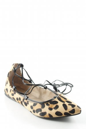 Steve Madden Strappy Ballerinas black-sand brown leopard pattern
