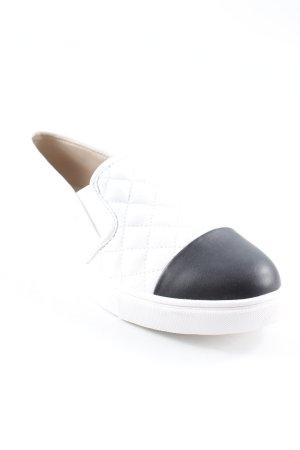 Steve Madden Schlüpfschuhe weiß-schwarz sportlicher Stil