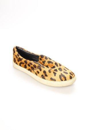 Steve Madden Slip-on Sneakers light brown-black animal pattern extravagant style