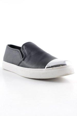 Steve Madden Schlüpfsneaker schwarz-silberfarben Casual-Look