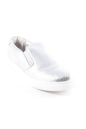 Steve Madden Schlüpfsneaker silberfarben-weiß Punktemuster extravaganter Stil