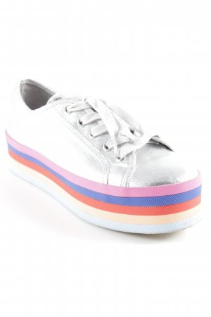 Steve Madden Lace Shoes striped pattern metallic look