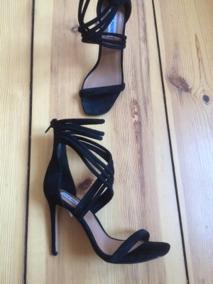 Steve Madden Strapped High-Heeled Sandals black suede
