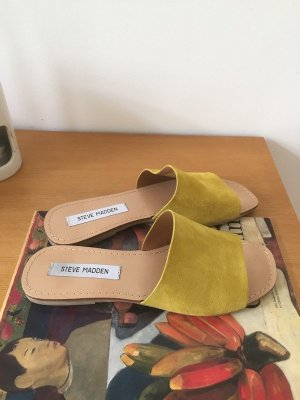 Steve Madden Dianette Sandals yellow leather